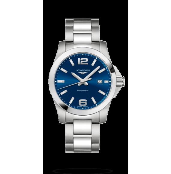 Reloj cuarzo Longines Conquest L3.759.4.96.6 de acero inoxidable para hombre