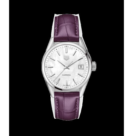 Reloj cuarzo Tag Heuer Carrera brazalete WBK1311.FC8261 de cocodrilo para señora