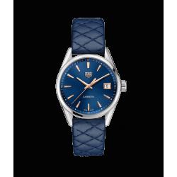 Reloj Tag Heuer Carrera Cuarzo de acero y piel azul para mujer
