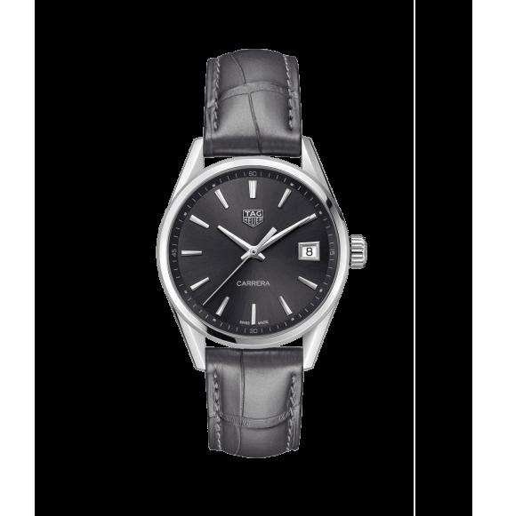 Reloj cuarzo Tag Heuer Carrera WBK1313.FC8260 de piel gris para señora