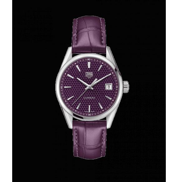 Reloj cuarzo Tag Heuer Carrera WBK1314.FC8261 de piel morada para señora