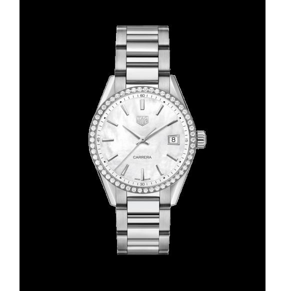 Reloj cuarzo Tag Heuer Carrera WBK1316.BA0652 de acero satinado y pulido  para señora