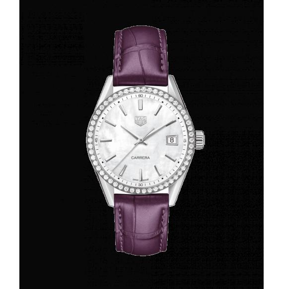 Reloj cuarzo Tag Heuer Carrera WBK1316.FC8261 de acero satinado para señora