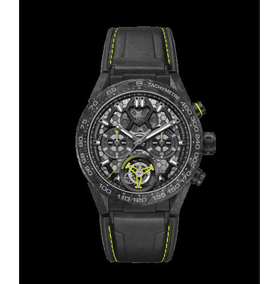 Reloj Tag ceHeuer Carrera CAR5A8K.FT6172 de piel de berro y caucho negra para hombre