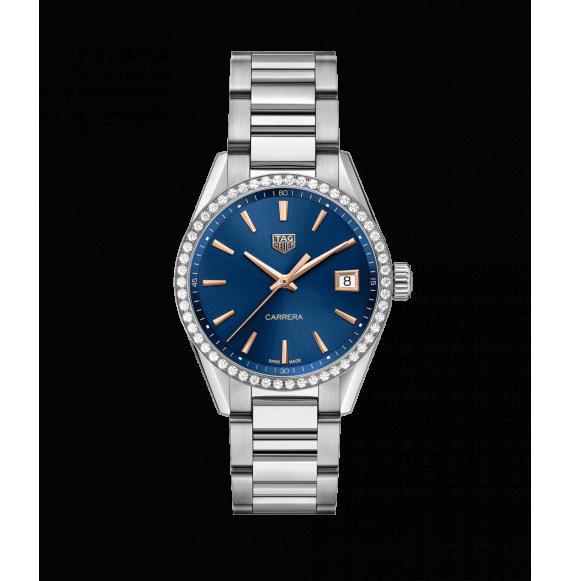 Reloj cuarzo Tag Heuer Carrera WBK1317.BA0652 de acero satinado para señora