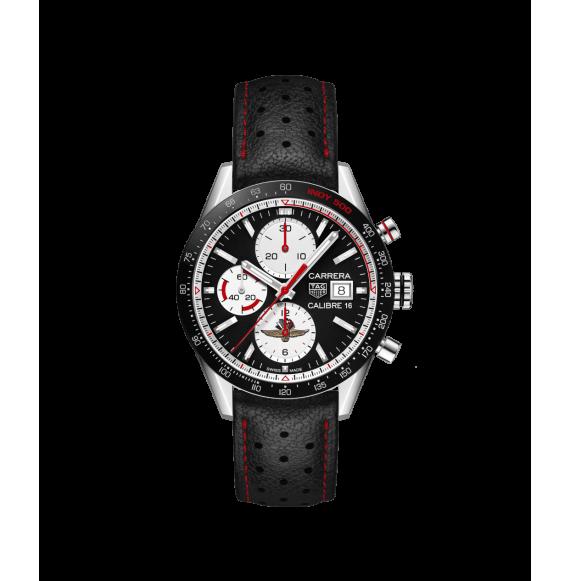 Reloj automático Tag Heuer Carrera 16CV201AS.FC6429 con correa de piel negra para hombre