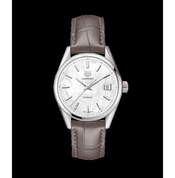 Reloj Tag Heuer Carrera automático WBK2311.FC8258 de piel marrón para mujer