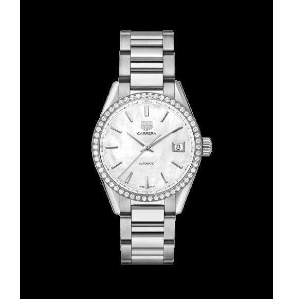Reloj Tag Heuer Carrera WBK2316.BA0652 automático  de acero satinado para mujer