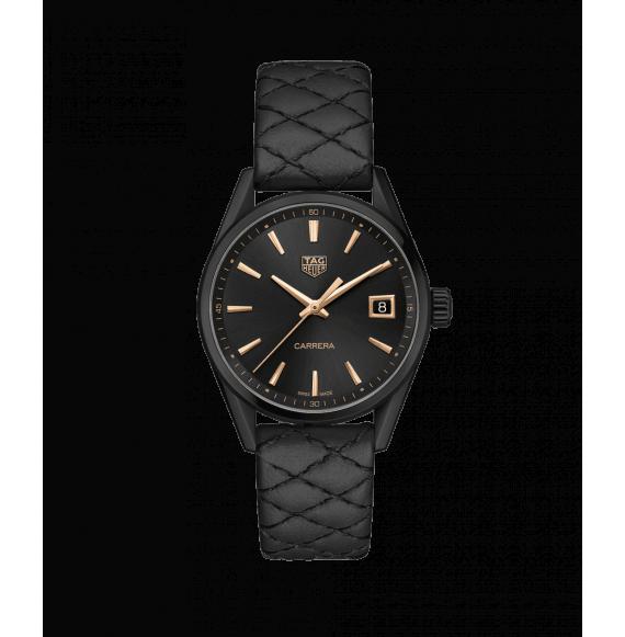 Reloj Tag Heuer Carrera WBK1310.FC8257 de piel negra para mujer