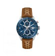Reloj  Tag Heuer Carrera CBM2112.FC6455 automático de piel marrón para hombre