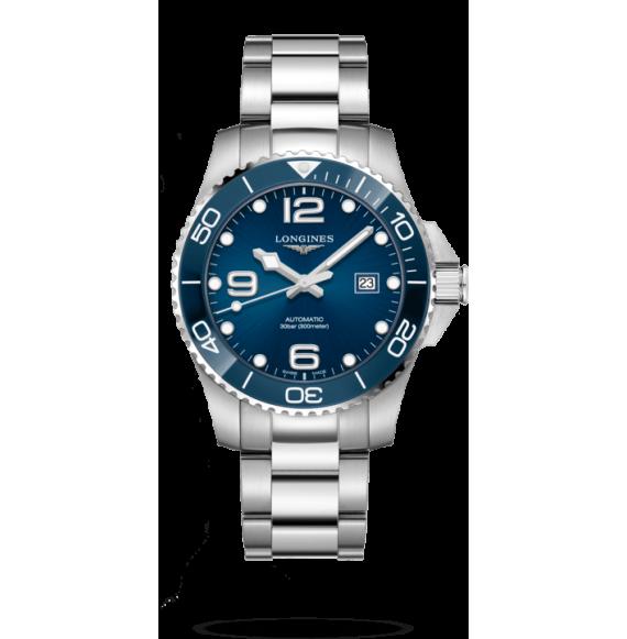 Reloj Longines HydroConquest L3.782.4.96.6 cerámico automático de acero inoxidable para hombre.