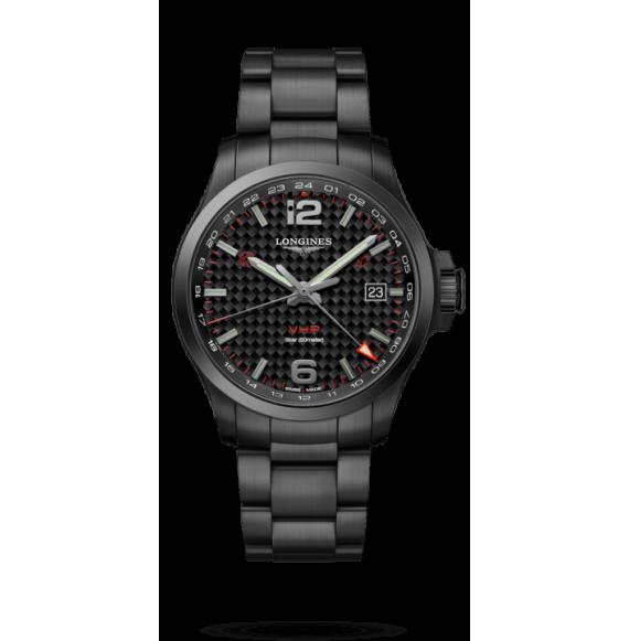 Reloj Longines Conquest V.H.P L3.728.2.66.6 cuarzo de PVD negro para hombre