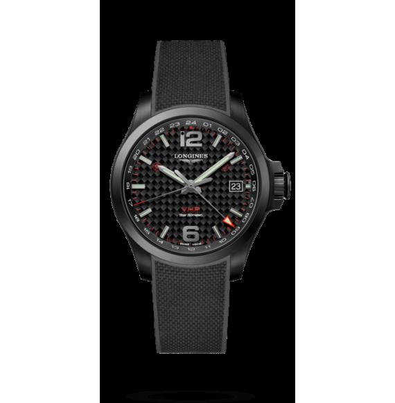 Reloj Longines Conquest V.H.P L3.718.2.66.9 cuarzo de caucho negro para hombre