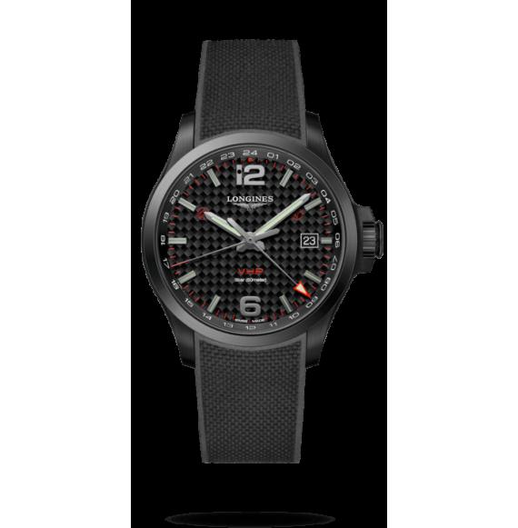 Reloj Longines Conquest V.H.P L3.728.2.66.9 cuarzo de caucho negro para hombre