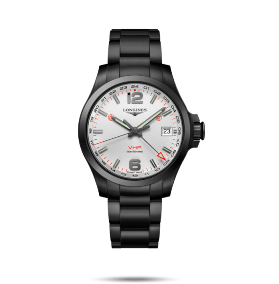 Reloj Longines Conquest V.H.P  cuarzo de PVD negro para hombre