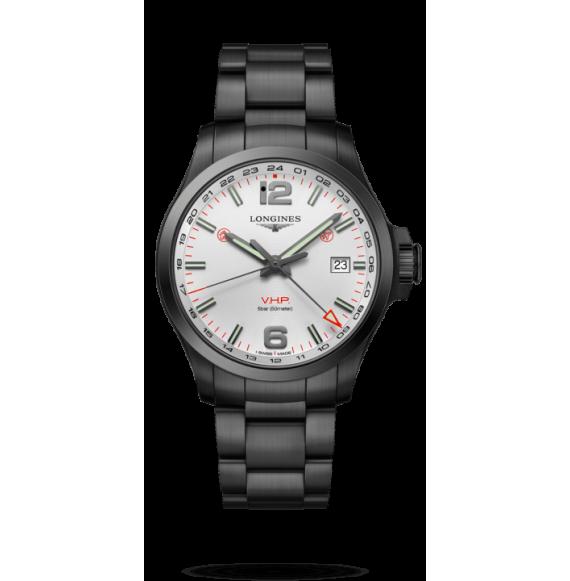 Reloj Longines Conquest V.H.P L3.728.2.76.6 cuarzo de PVD negro para hombre