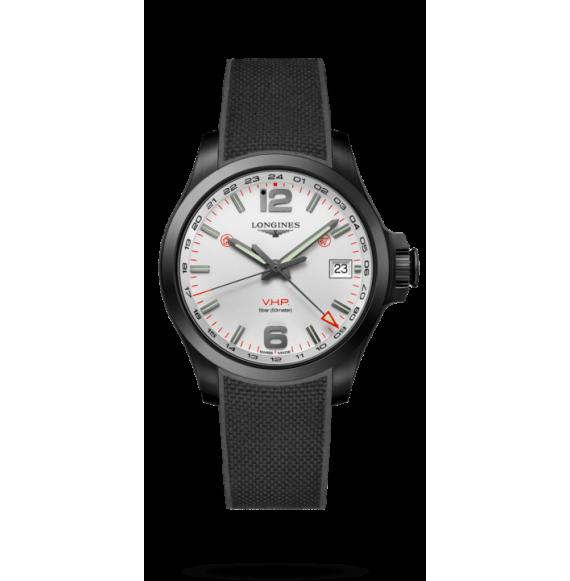 Reloj Longines Conquest V.H.P L3.718.2.76.9 cuarzo de caucho negro para hombre