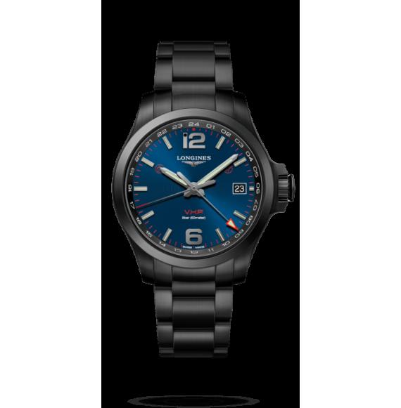 Reloj Longines Conquest V.H.P L3.718.2.96.6 cuarzo de PVD negro para hombre