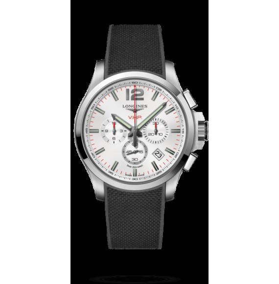 Reloj acero Longines Conquest VHP L3.727.4.76.9 cuarzo con cronógrafo para hombre
