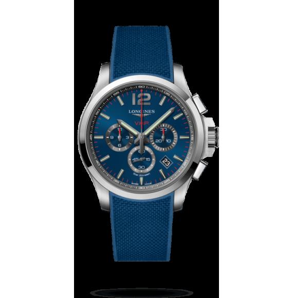 Reloj Longines Acero Conquest VHP L3.727.4.96.9 cuarzo con cronógrafo para hombre.