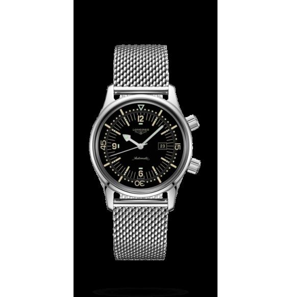 Reloj  Longines Heritage L3.374.4.50.6 automático de acero inoxidable para mujer