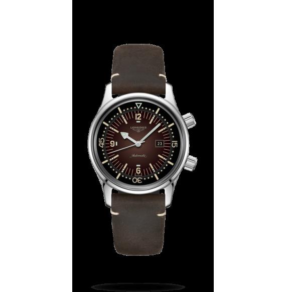 Reloj Marrón Longines Heritage L3.374.4.60.0 automático de acero inoxidablepara mujer