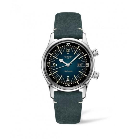Reloj Verde Longines Heritage L3.374.4.96.0  automático Legend Diver para mujer