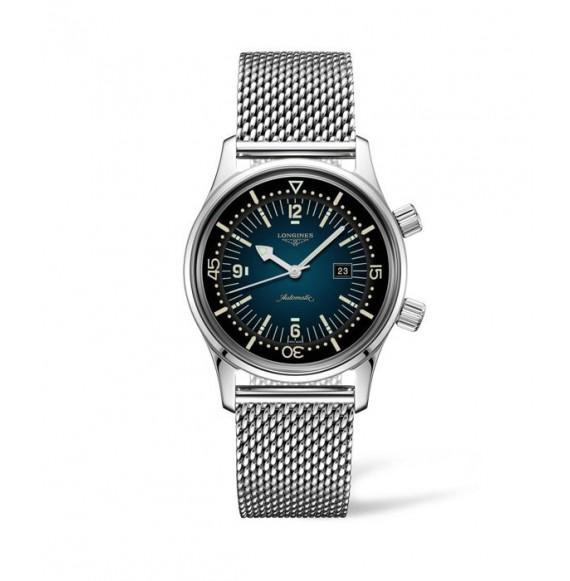 Reloj Longines Heritage L3.374.4.96.6 Legend Diver acero inoxidable para mujer