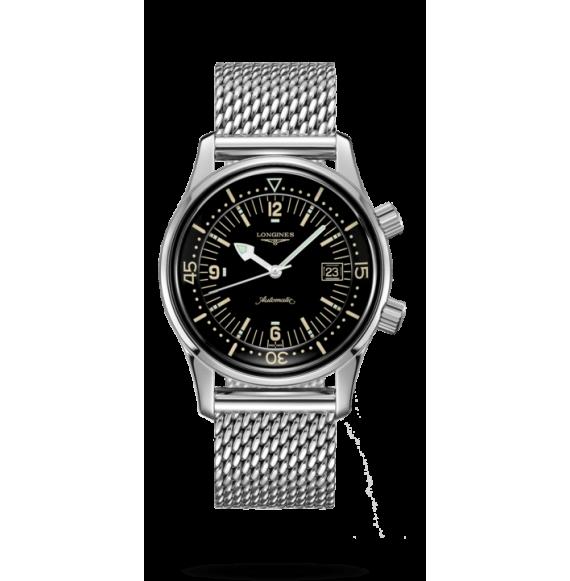 Reloj Longines Heritage Legend Diver L3.774.4.50.6  automático de acero inoxidable para hombre