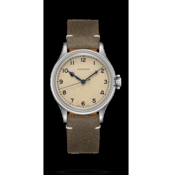Reloj verde Longines Heritage Military L2.819.4.93.2  automático de acero inoxidable unisex