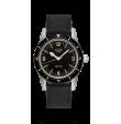 Reloj Longines negro Heritage Skin Diver L2.822.4.56.9  automático de acero inoxidable para hombre