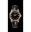 Reloj negro Longines Heritage L1.611.8.52.4 automático de oro rosa para mujer