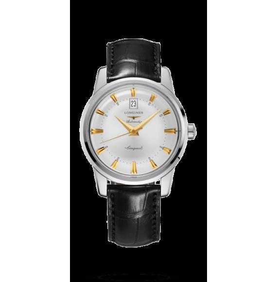 Reloj negro Longines Heritage L1.645.4.75.4 9  automático de acero inoxidable para hombre