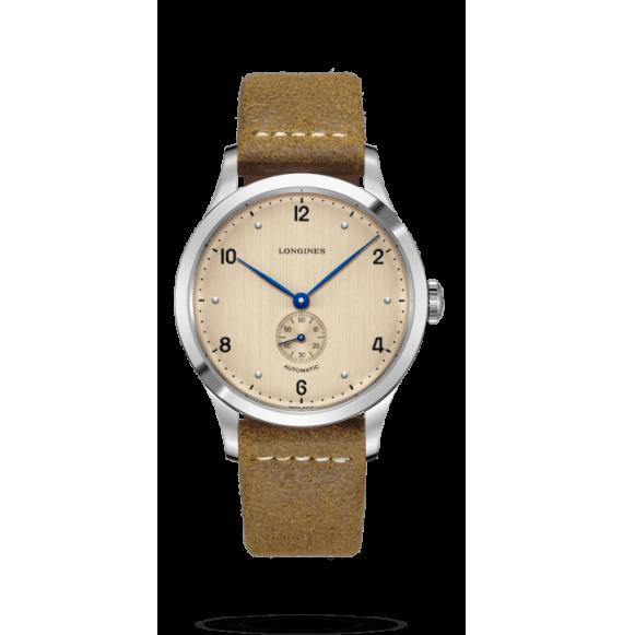Reloj beige Longines Heritage 1945  L2.813.4.66.0 automático de acero inoxidable para hombre
