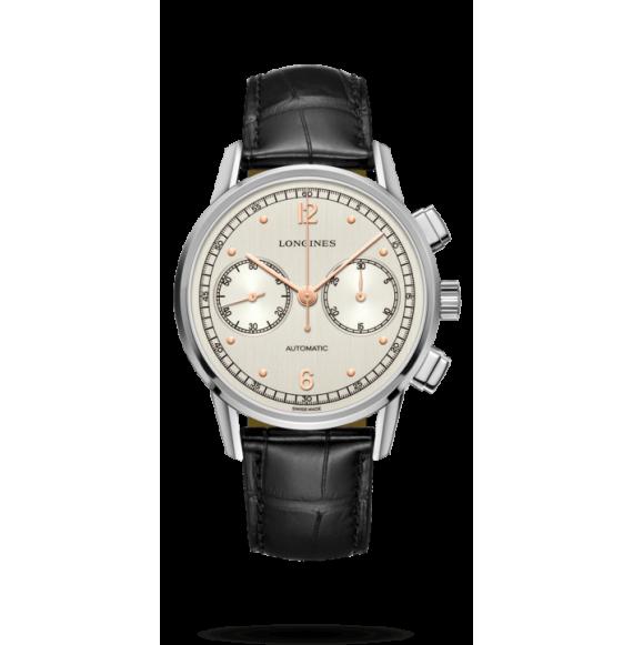 Reloj acero Longines Heritage L2.814.4.76.0 automático dcon cronógrafo para hombre