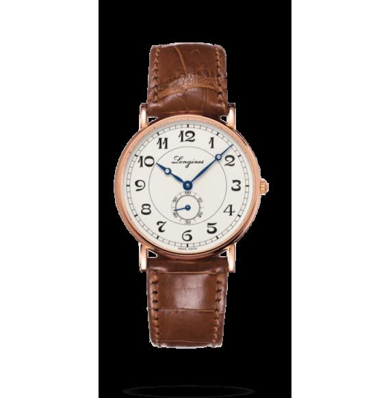Reloj marrón Longines Heritage L4.785.8.73.2  automático de oro rosa unisex presence