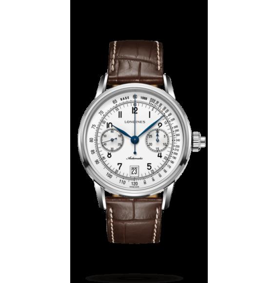 Reloj acero Longines Heritage L2.800.4.23.2 automático con cronógrafo para hombre