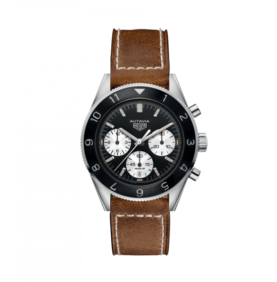 Reloj acero pulido Tag Heuer Autavia CBE2110.FC8226 automático con cronógrafo para hombre
