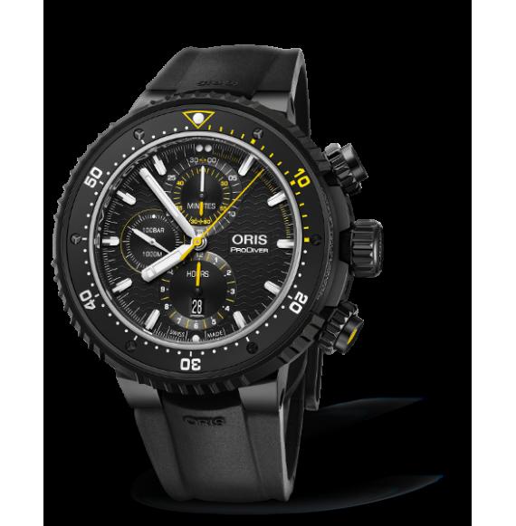 Reloj negro Oris ProDiver 01 774 7727 7784-Set edición limitada automático con cronógrafo para hombre