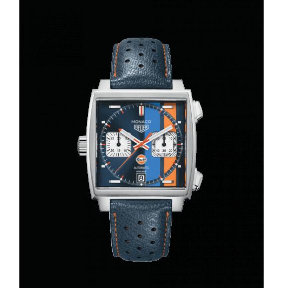 Reloj acero Tag Heuer Monaco CAW211R.FC6401 automático con cronógrafo para hombre