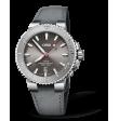 Reloj de piel Oris Aquis Date Relief  01 733 7730 4153-07 5 24 11EB automático de acero inoxidable para hombre