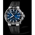 Reloj Oris Aquis GMT Date automático de acero y caucho negro para hombre
