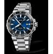 Reloj azul Oris Aquis GMT Date 01 798 7754 4135-07 8 24 05PEB automático de acero inoxidable para hombre