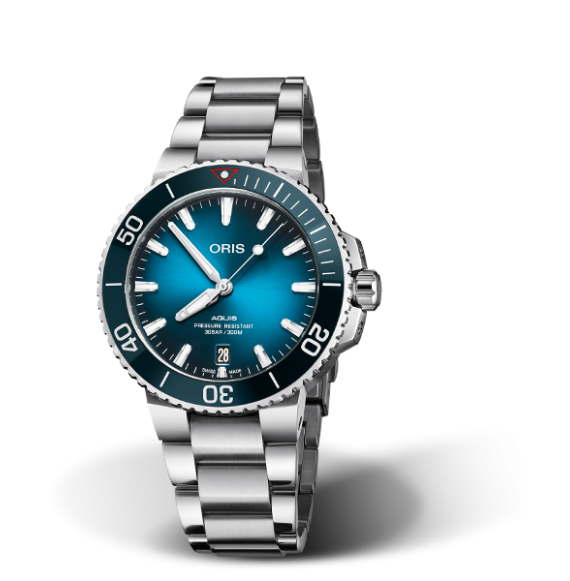 Reloj azul Oris Clean Ocean edición limitada 01 733 7732 4185-Set  automático de acero para hombre