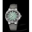 Reloj piel gris Oris Aquis Date 01 733 7732 4137-07 5 21 12FC automático de acero para hombre