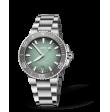 Reloj verde Oris Aquis Date 01 733 7732 4137-07 8 21 05PEB automático de acero para hombre