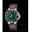 Reloj piel marrón Oris Aquis Date 01 733 7732 4157-07 5 21 10FC automático de acero para hombre