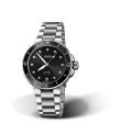 Reloj negro Oris Aquis Date Diamonds  01 733 7731 4194-07 8 18 05P automático de acero para mujer