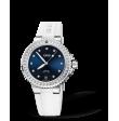 Reloj blanco Oris Aquis Date Diamonds 01 733 7731 4995-07 4 18 63FC automático de acero con diamantes de mujer