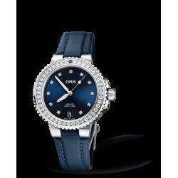 Reloj Oris Aquis Date Diamonds automático de acero para mujer
